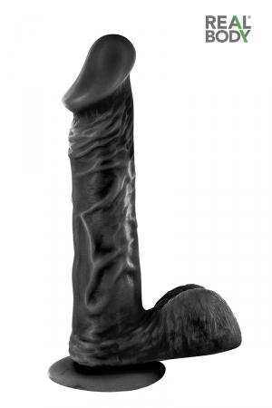 Gode réaliste 21 cm - Real Jayson Noir - Gode grande taille Real Body Jayson Noir, ultra réaliste, de la collection Real Body.