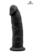 Gode double densité noir 22,5 cm - Gode réaliste noir de 22,5 cm et 5 cm de diamètre à double densité et mémoire de forme utilisant du silexpan pour des sensation plus réelles.