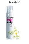 Mousse massage crépitante - monoï - Cosmétique érotique spécial massages sensuels parfum monoï.