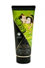Crème de massage délectable poire et thé vert exotique -  Shunga - Le plus savoureux des massages avec la crème de massage comestible Shunga saveur poire et thé vert exotique.