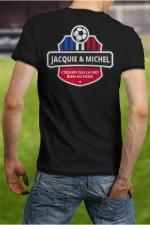 Tee-shirt  Football J&M - Soutenez l'équipe de France de Football à votre manière en portant le Tee shirt Jacquie et Michel spécial Foot.