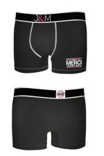Boxer J&M en coton - Noir 1 - Ne loupez jamais une belle occasion de montrer votre... Boxer (modèle noir 1 en coton) Jacquie et Michel.