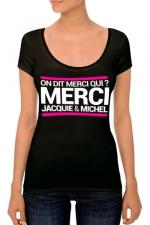 T-shirt J&M Femme n°4 - J&M pensent aussi (et surtout) aux femmes avec un nouveau tee-shirt spécifique mettant mieux en valeur leurs charmes.