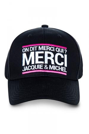 Casquette brodée Jacquie et Michel - La casquette  On dit merci qui? , pour permettre aux initiés (nombreux) d'afficher leur passion commune.