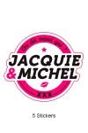 Pack 5 stickers J&M n°1
