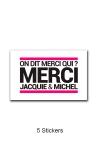 Pack 5 stickers J&M n°3