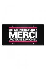 Plaque métal on dit merci qui ? - Plaque de porte haute qualité en métal, dimensions 20 x 30 cm, avec message On dit merci qui ? Merci Jacquie & Michel.