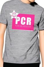 Tee-Shirt J&M PCR - gris : PCR pour Plan cul régulier, un T-shirt de la collection officielle Jacquie & Michel, coloris gris.