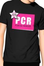 T-Shirt J&M PCR - noir -  PCR  pour  Plan cul régulier , un T-shirt de la collection officielle Jacquie & Michel, coloris noir.