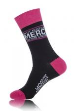 Chaussettes On dit merci qui? - noir - Paire de chaussettes pour hommes On dit merci qui?, par Jacquie et Michel, coloris noir.