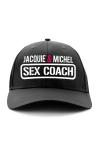 Casquette Sex Coach - Jacquie et Michel - Exclusivement destinée aux fans dotés d'un gros bagage Cul-turel, voici la casquette sex-coach de Jacquie & Michel.