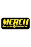 Autocollant J&M 13 x 5,2  cm - Le sticker de Jacquie & Michel à coller où vous voulez.