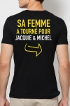 Tee shirt  Provoc J&M - Le tee-shirt humoristique J&M réservé aux Mecs Méga Costauds ! Vous avez le goût du risque ?