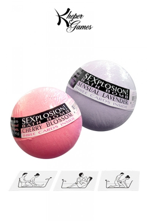 Pack de bombes de bain avec messages cachés : Alimentez vos jeux coquins dans le bain avec les Sexplosion Bath Bombs!