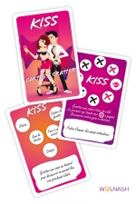 Cartes à gratter Kiss - 6 cartes à gratter pour pimenter vos jeux amoureux.