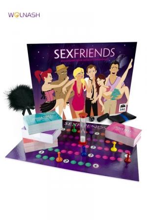 Jeu Sexfriends - Jeu de société pour adultes avec plus de 400 défis et 3 accessoires coquins pour pimenter votre parcours.