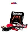 Jeu Aphrodisia - Un jeu érotique et BDSM soft avec de nombreux accessoires, conçu pour les couples en quête de nouvelles expériences sexuelles.