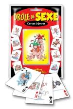 Jeu de cartes - Drole de sexe : Cartes à jouer Drôle de sexe, 54 positions sexuelles délirantes.