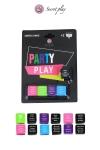 Jeu 5 dés Party Play - Un jeu de dés érotique pour jouer de 2 à ... autant de joueurs que vous voulez ! Multilingue français, anglais, espagnol, portugais.