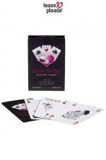 Jeux de cartes Kamasutra - Jeu de cartes au design chic avec la représentation stylisée d'une position du Kama Sutra sur chacune des 54 cartes.