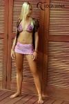Mini jupe Wendy - Mini jupe au crochet, à porter sur les hanches en sortie de plage. Avec ou sans maillot, vous provoquerez votre petit effet !