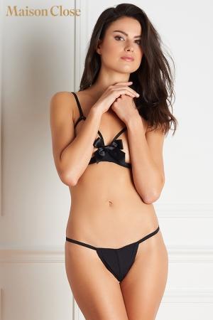Soutien-gorge Le Petit secret - Un soutien gorge seins nus qui fait palpiter le coeur sous son magnifique noeud de satin.