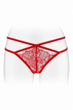 String ouvert Mylene - rouge