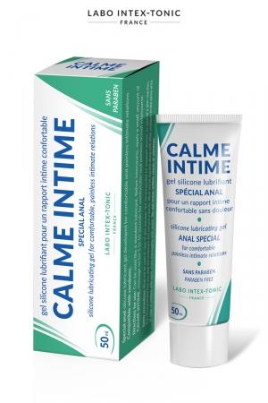 Lubrifiant anal Calme Intime (50 ml) - Lubrifiant spécial avec effet désensibilisant, pour les amateurs de plaisir anal, par Labo Intex-Tonic.