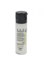 Lubrifiant Mister B Lube Sensitive 30 ml - Lubrifiant à base d'eau, Aloe Vera et vitamine E, spécial peaux sensibles qui répare et hydrate la peau, évite les irritations, taille voyage.