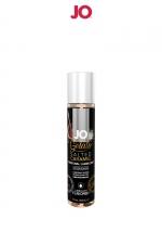 Lubrifiant aromatisé Caramel salé - 30ml - Avec le lubrifiant System Jo Gelato et ses saveurs délirantes, profitez à la fois du câlin et du dessert. Parfum Caramel salé.