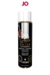 Lubrifiant aromatisé Caramel salé - 120ml - Lubrifiant aromatisé comestible parfum caramel salé au format 120 ml de la marque Américaine System Jo.