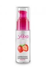 Lubrifiant parfumé fraise 50ml - Yoba - Lubrifiant intime à base d'eau délicieusement parfumé à la fraise. Présenté dans un flacon pratique. Fabriqué en France.