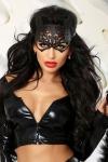 Kitty - masque de chat faux cuir