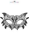 Loup broderie souple Chicago - Loup noir en dentelle brodée souple, de style rétro, pour vos soirées déguisées ou coquines, par Maskarade.