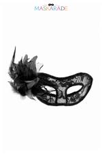 Loup semi-rigide La Traviata : Masque libertin semi-rigide, transparent et recouvert de dentelle, idéal pour vos soirées coquines et soirées déguisées.