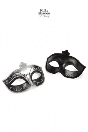 Lot 2 masques vénitiens - Fifty Shades of Grey -
