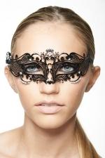 Masque vénitien Fairy 3 : Masque vénitien effilé décoré de strass, pour exalter votre regard.