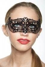 Masque vénitien Princess 7 - Masque vénitien métal décoré de strass, un bandeau sophistiqué et mystérieux sur votre regard.