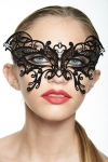 Masque vénitien Fairy 1 - Masque bijou en métal et strass qui forme un papillon magnifique sur le regard.