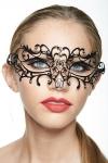 Masque vénitien Spirit 4 - Masque vénitien en métal incrusté de strass, deux ailes mystérieuses capturent votre regard.