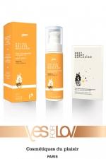 Delice deluxe massage Vanille : 1 Huile de massage gourmande parfum vanille + 1 sachet Sexy Candy Explosion, par Yes For Love.