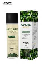 Huile massage BIO Aventurine Avocat - Exsens - huile de massage anti stress certifiée Bio à l'Aventurine et à l'huile d'Avocat, par Exsens.