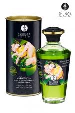 Huile chauffante aphrodisiaque Thé Vert  - Huile aphrodisiaque comestible Bio, activée par la chaleur de la peau ou les baisers, by Shunga.
