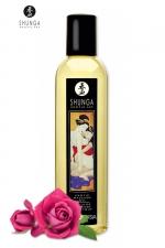 Huile de massage érotique - Rose - Huile de massage érotique Aprodisia à la rose pour éveiller les sens et la réceptivité amoureuse, par Shunga.