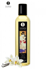 Huile de massage érotique - Vanille : Huile de massage érotique Desire à la vanille pour éveiller les sens et la réceptivité amoureuse, par Shunga.