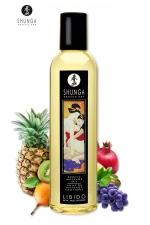 Huile de massage érotique - Fruits Exotiques - Huile de massage érotique Libidoaux fruits exotiques pour éveiller les sens et la réceptivité amoureuse, par Shunga.