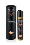 Huile de massage gourmande - Caramel - Huile de massage comestible avec goût caramel exquis, par Plaisirs Secrets.