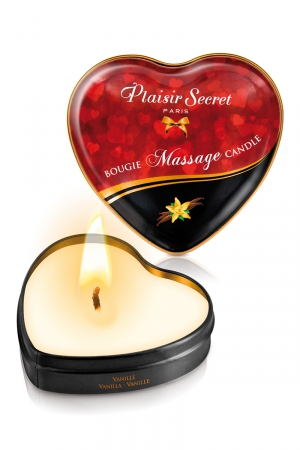 Mini bougie de massage Vanille - Bougie de massage sensuelle et gourmande au format idéal pour un massage tout en douceur. Parfum agréable et fruité.