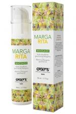 Huile de massage chauffante gourmande - Margarita - Huile de massage chauffante et gourmande au gout Margarita, flacon de 50 ml, marque Exsens.