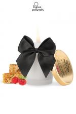 Bougie de massage Fraise - Superbe bougie se transformant en huile tiède au doux parfum Fraise par Bijoux Indiscrets.